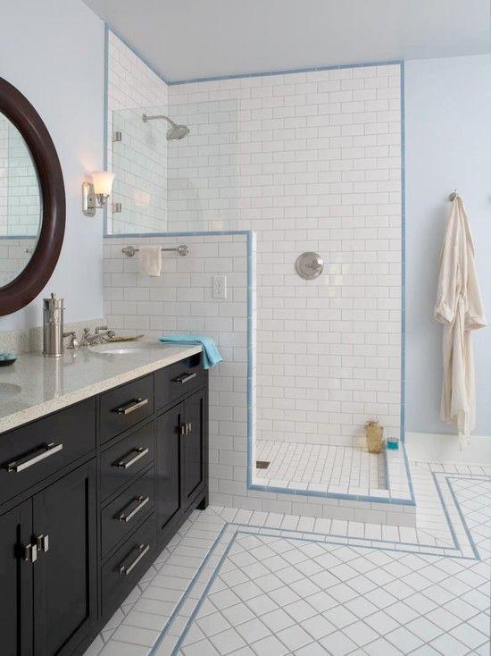 open shower  Bathroom Ideas  Pinterest