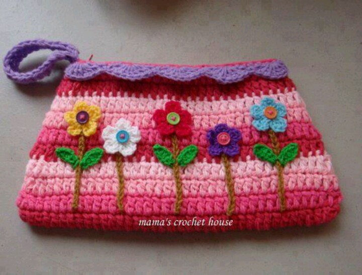 Mini Crochet Bag : mini purse Crochet - Bag/purse Pinterest