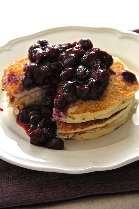 Lemon Ricotta Pancakes with blueberries | mostly Breakfast | Pinterest