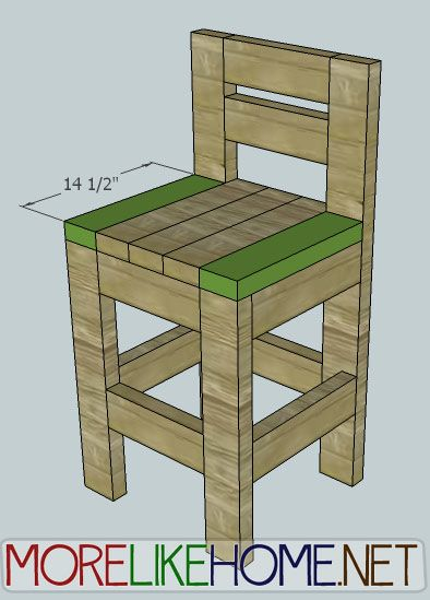 2x4 bar stool plans furniture pinterest
