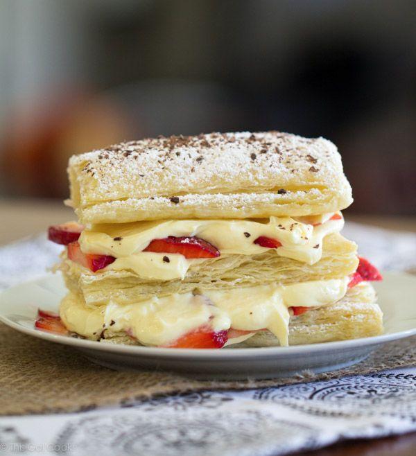 Strawberry Cheesecake Napoleons - This Gal Cooks #dessert #freshfruit ...