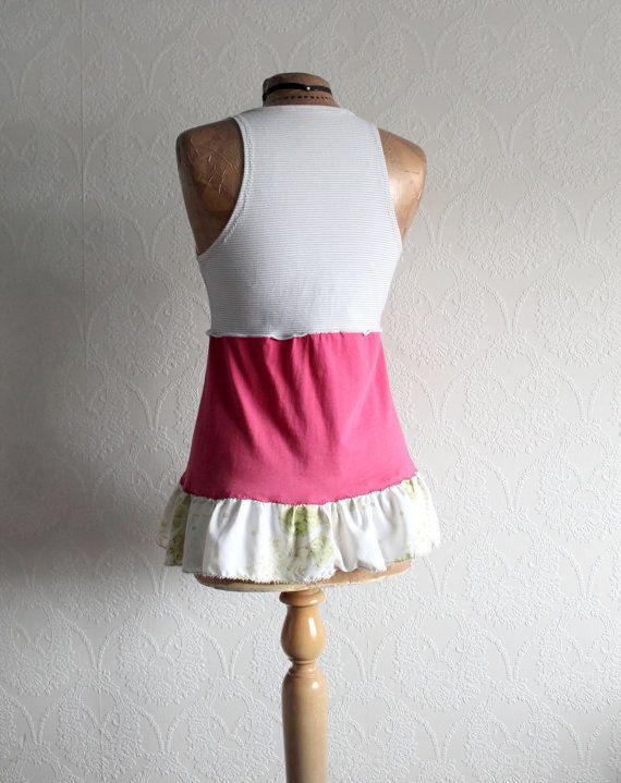 Pink Tank Top Boho Chic Clothing Women s by BrokenGhostClothing