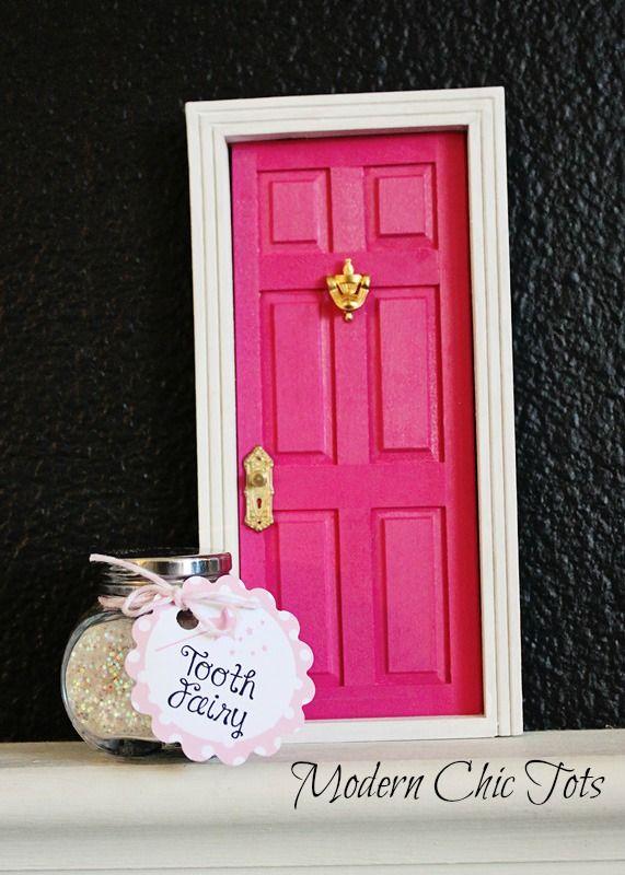 Tooth fairy door and fairy dust faith trust pixie for Tooth fairy door