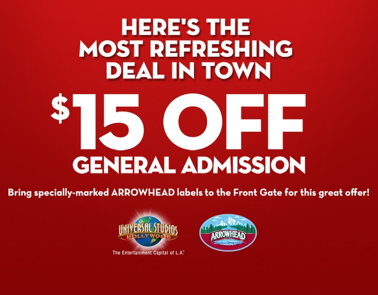 Discount coupon universal studios