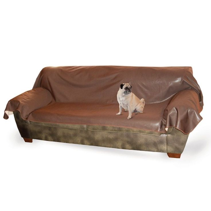 KH Mfg Dog Cat Pet Hair Dirt Leather Lover's Couch Sofa Cover Protect ...