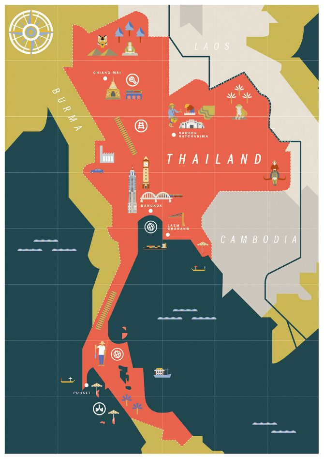 Thailand wink cajsa holgersson maps pinterest for Map designer free
