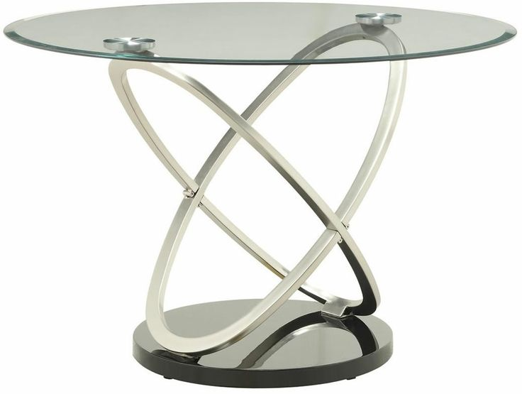 beautiful glass and silver dining tables tapia modern  : c981108d12ef0f20d75a1a2630a6b6ee from pinterest.com size 736 x 555 jpeg 28kB