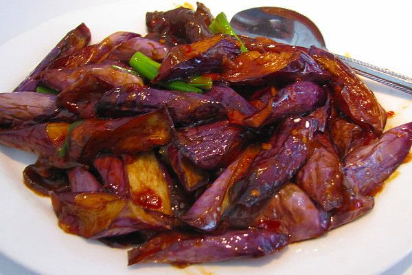 Baby Eggplant from Sichuan Garden, Brookline, MA. http://www ...