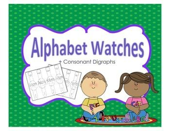 http://www.teacherspayteachers.com/Product/Alphabet-and-Consonant-Digraph-Watches-1051214
