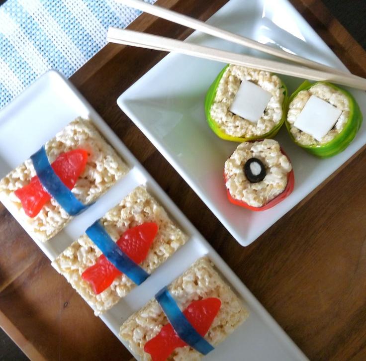 Rice Krispie Sushi | Hot air balloon party | Pinterest