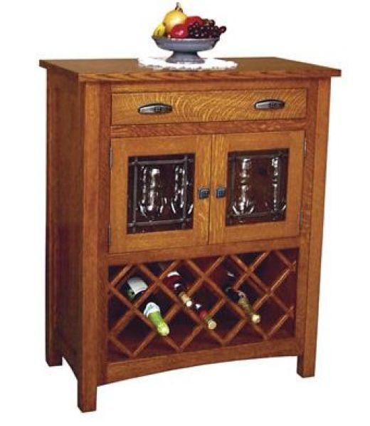 Oak wine cabinets
