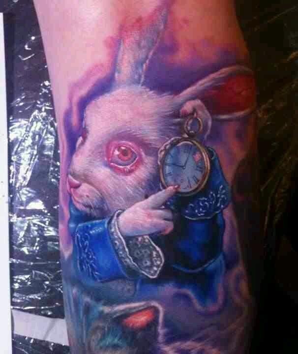 White rabbit tattoo, alice in wonderland | BoDY ...