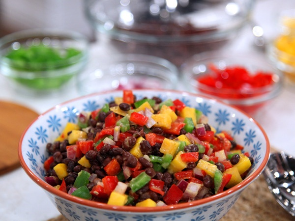 Mango black bean salad | food | Pinterest