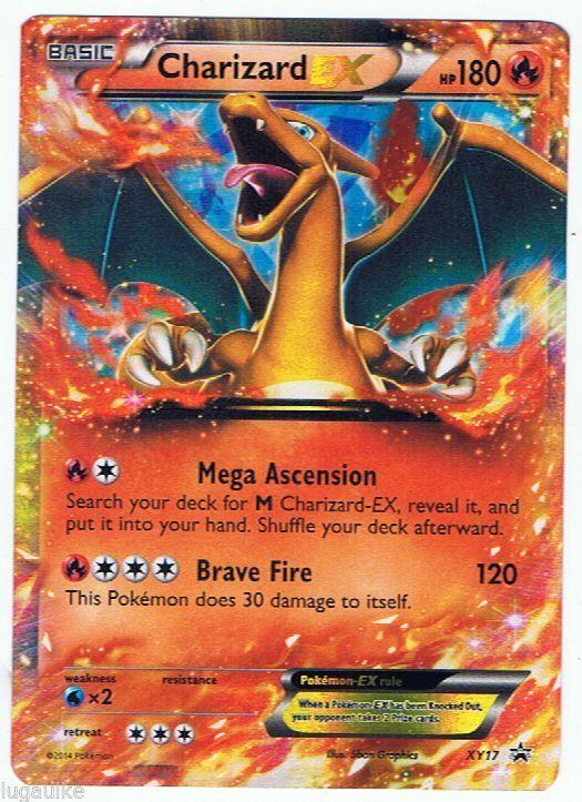 pokemon card rare holo promo charizard ex xy17 free