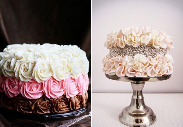 Cake With Roses Pinterest : ruffle rose cake - I am baker Cake Pinterest