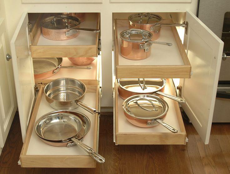 Shelfgenie blind corner cabinet solution kitchen ideas for Blind corner kitchen cabinet ideas