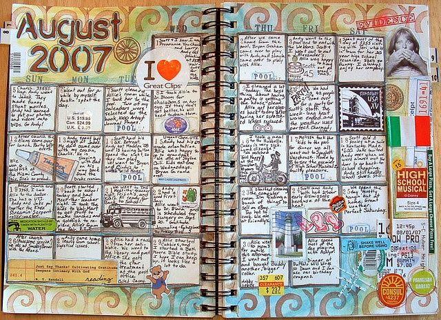 Calendar Art Journal : Calendar journaling art journals pinterest