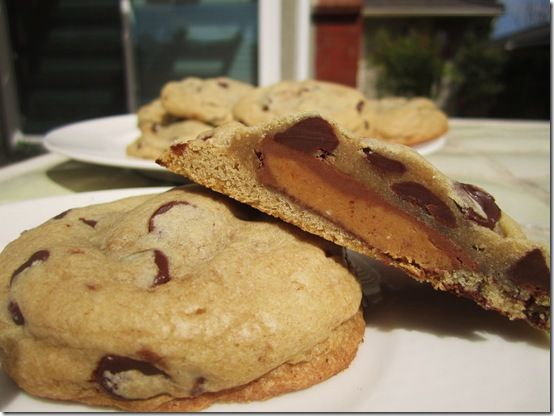 Reese's Stuffed Chocolate Chip Cookie | Food! | Pinterest