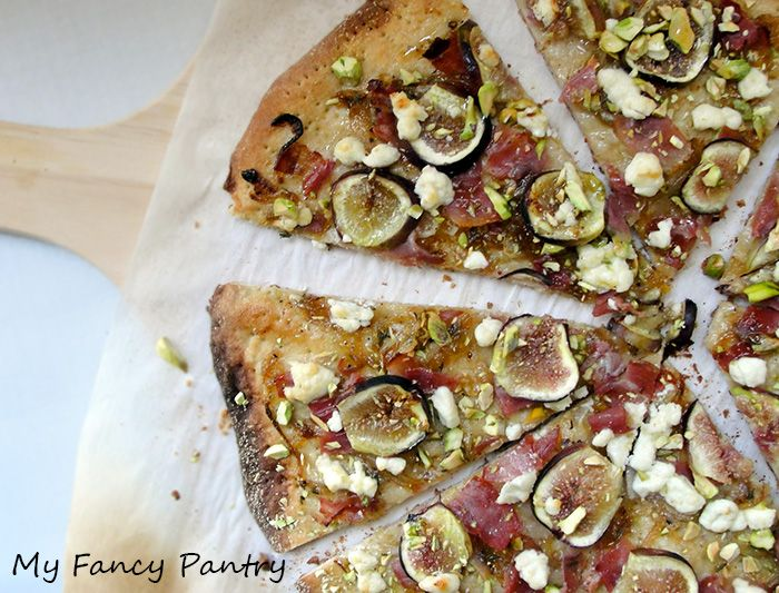 Fig, goat cheese and caramelized onion pizza. Making it tonight with ...
