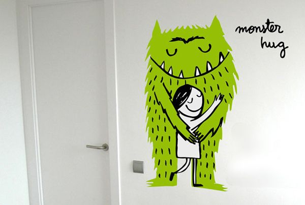 Monster Hug wall decal | A room for the little ones | Pinterest