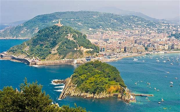 San Sebastian Spain  City pictures : San Sebastian, Spain ~ View from the forested Monte Igueldo ~ Photo ...