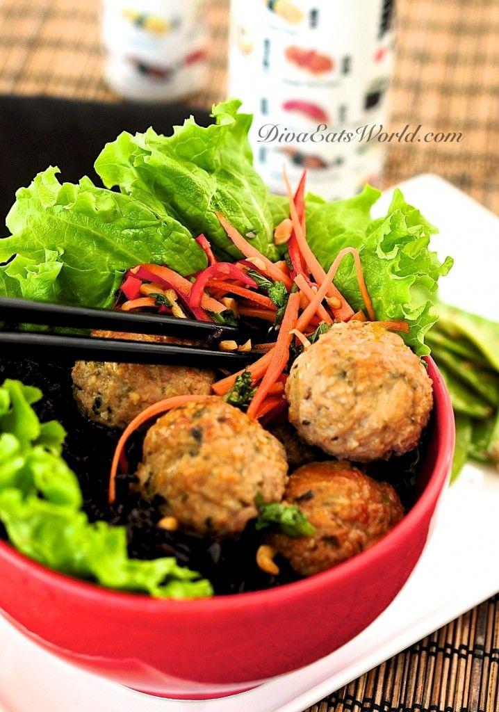 greek turkey meatballs asian turkey meatballs with carrot rice ...