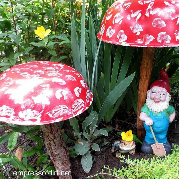 Start An Enchanted Garden With A Homemade Toadstool