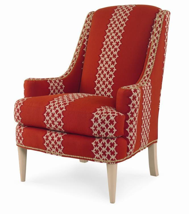Red Patterned Accent Chair Red And White Pinterest