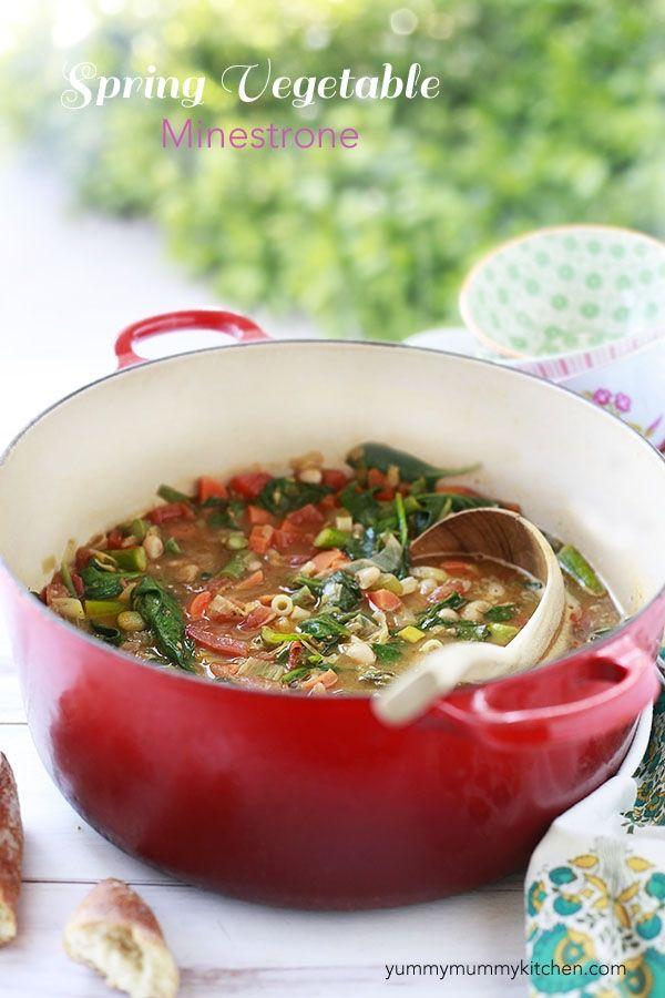 Spring Vegetable Minestrone Recipe by Yummy Mummy
