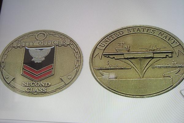 US NAVY PETTY OFFICER 2 CHALLENGE COIN