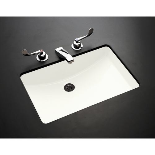 Kohler Ladena Sink : KOHLER Ladena White Undermount Rectangular Bathroom Sink with Overflo ...