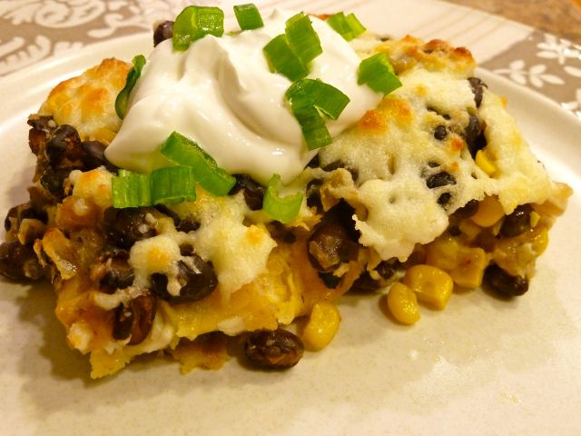 Black Bean & Tortilla Pie (casserole) | Recipes to try | Pinterest
