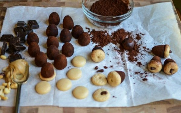 Peanut Butter & Chocolate Acorn Truffles - Tutorial - Cake Central