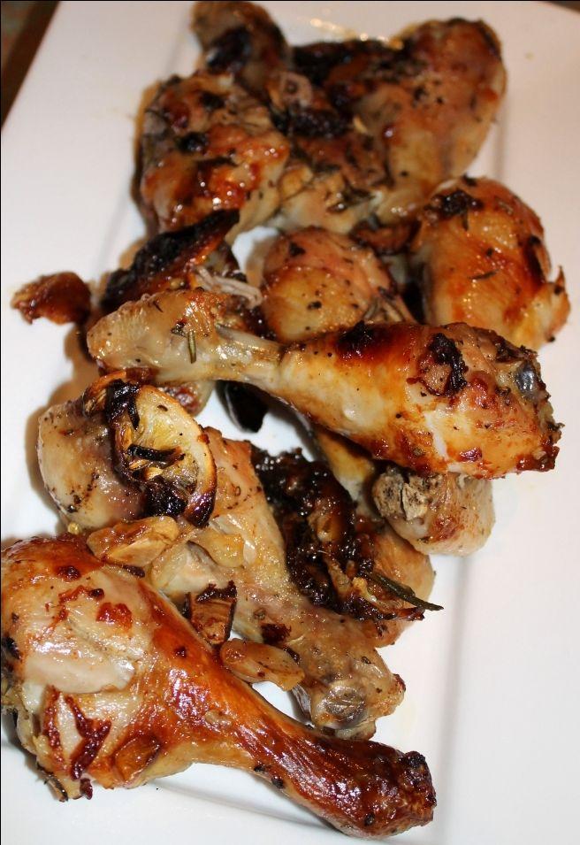 Roasted garlic, lemon chicken drumsticks | Chicken | Pinterest