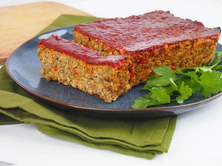 Lentil Loaf with BBQ Glaze | Veg food | Pinterest
