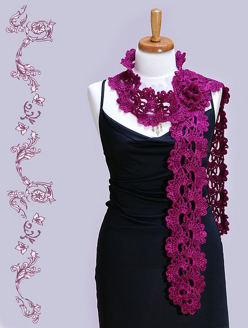 Ravelry: Queen ANNEs Lace - Crochet Scarf pattern by Christiane Klink
