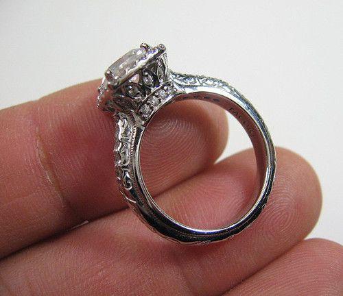 sterling silver tacori epiphany solitare halo cz