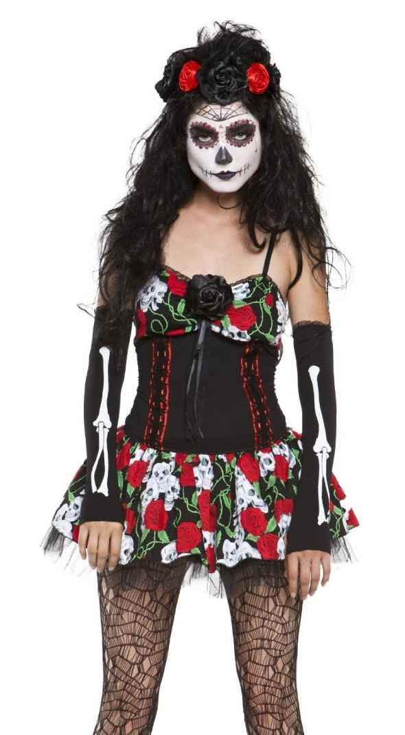 mexican sugar skull costumes for the day of the dead