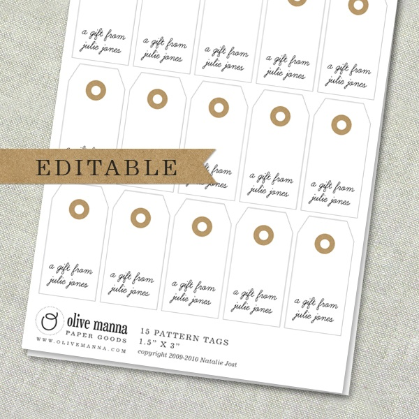 editable gift tags printable labels pinterest