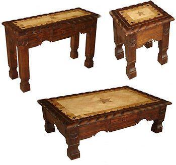 Dark Marble Star Living Room Table Set Sofa End