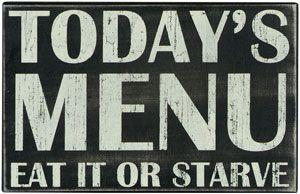 My daily menu.