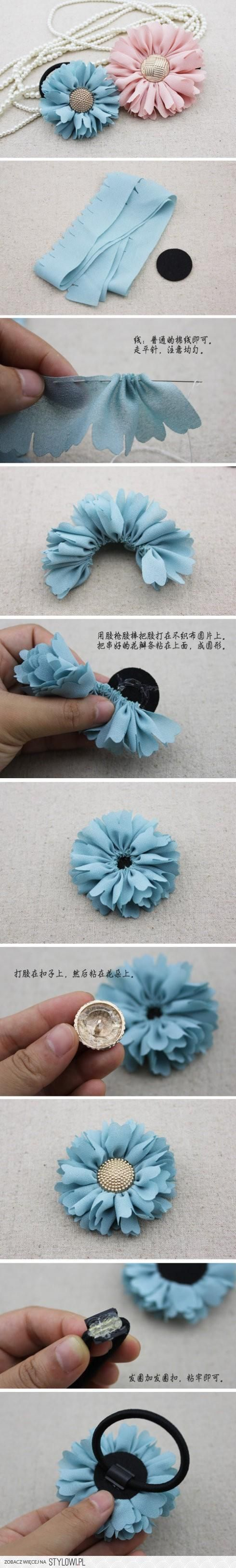 fabric flowers of course