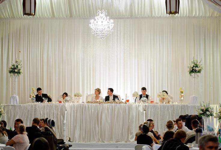 Wedding Reception Head Table Backdrop