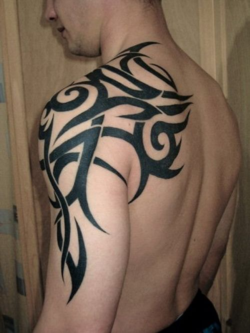 Tribal Tattoo Arm Shoulder | My Style | Pinterest