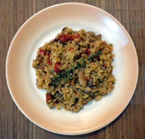 Mushroom and Sun-Dried Tomato Risotto - used it with regular mushrooms ...