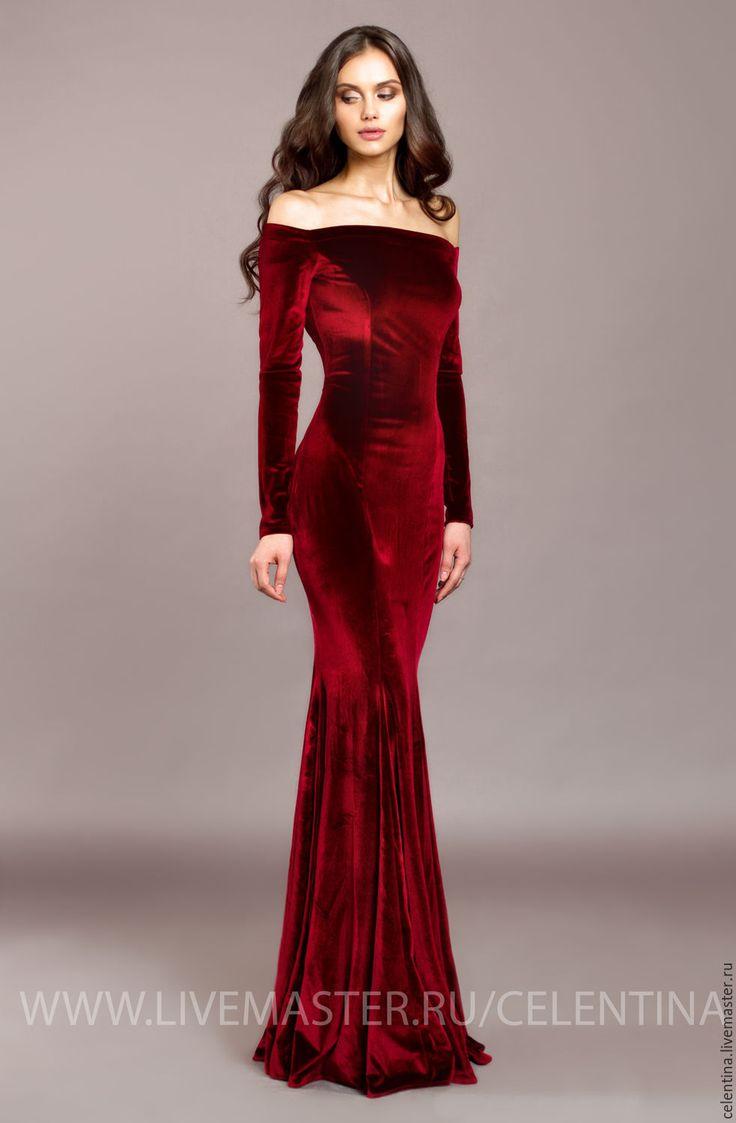Вечернее платье бархатное