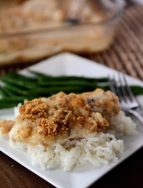 Crunchy-Topped Swiss Chicken Bake {With Homemade Sauce + Stock Up Sale ...