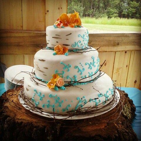 outdoor themed wedding cake future wedding ideas pinterest. Black Bedroom Furniture Sets. Home Design Ideas