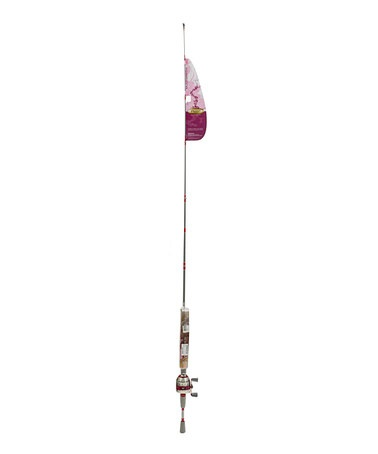 Bright pink fishing rod spincast reel set for Pink fishing rods