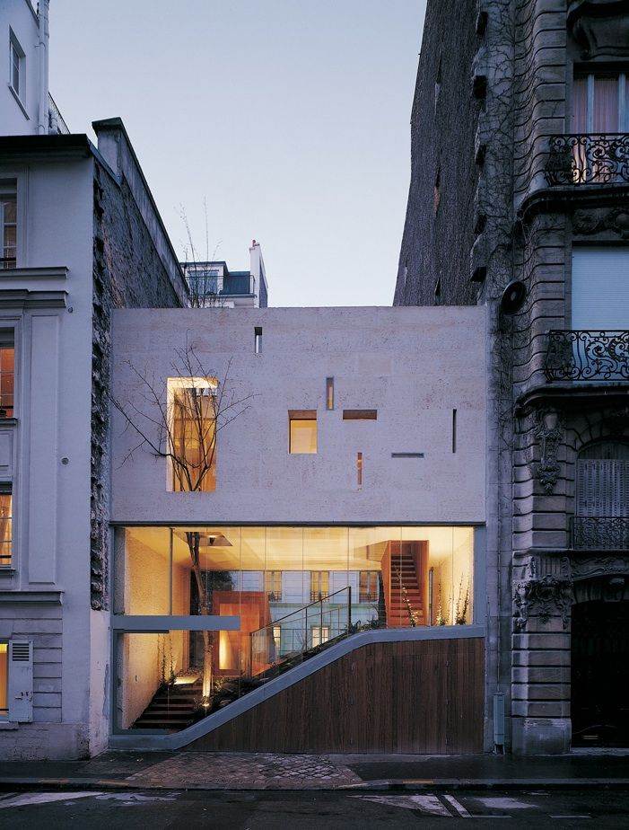 facade of galvani house by christian pottgiesser in paris
